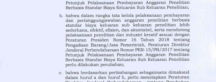 Peraturan Dirjen Perbendaharaan Kementerian Keuangan No. Per-7/PB/2019